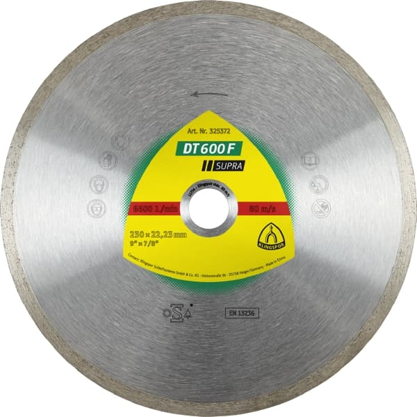 DT 600 F Supra Diamond Cutting Wheel Image