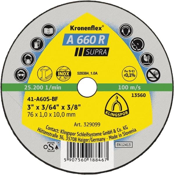 Crownflex A 660 R Supra Cutting Disc Image