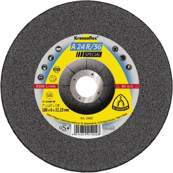 Crownflex A 24 R/36 Special Grinding Disc Image