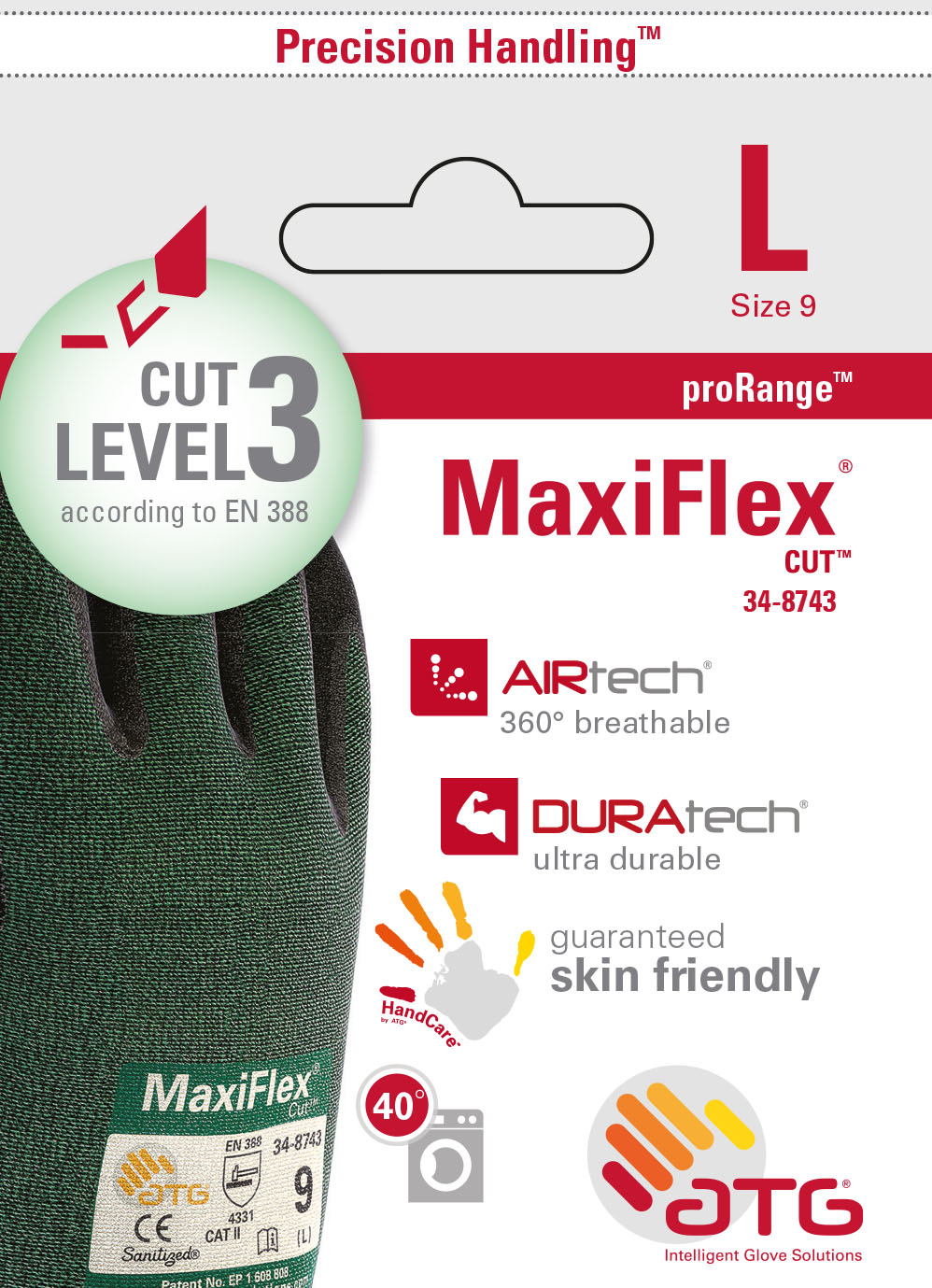 34-8743 MaxiFlex® Cut™ Palm Coated Retail Image