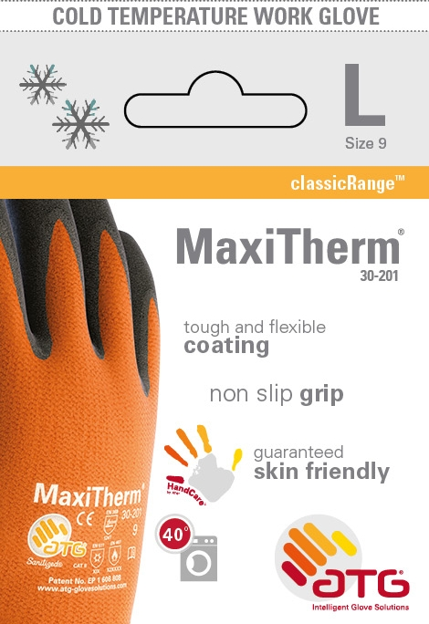 30-201 MaxiTherm® Palm Coated Thermal Lined Glove Retail Image