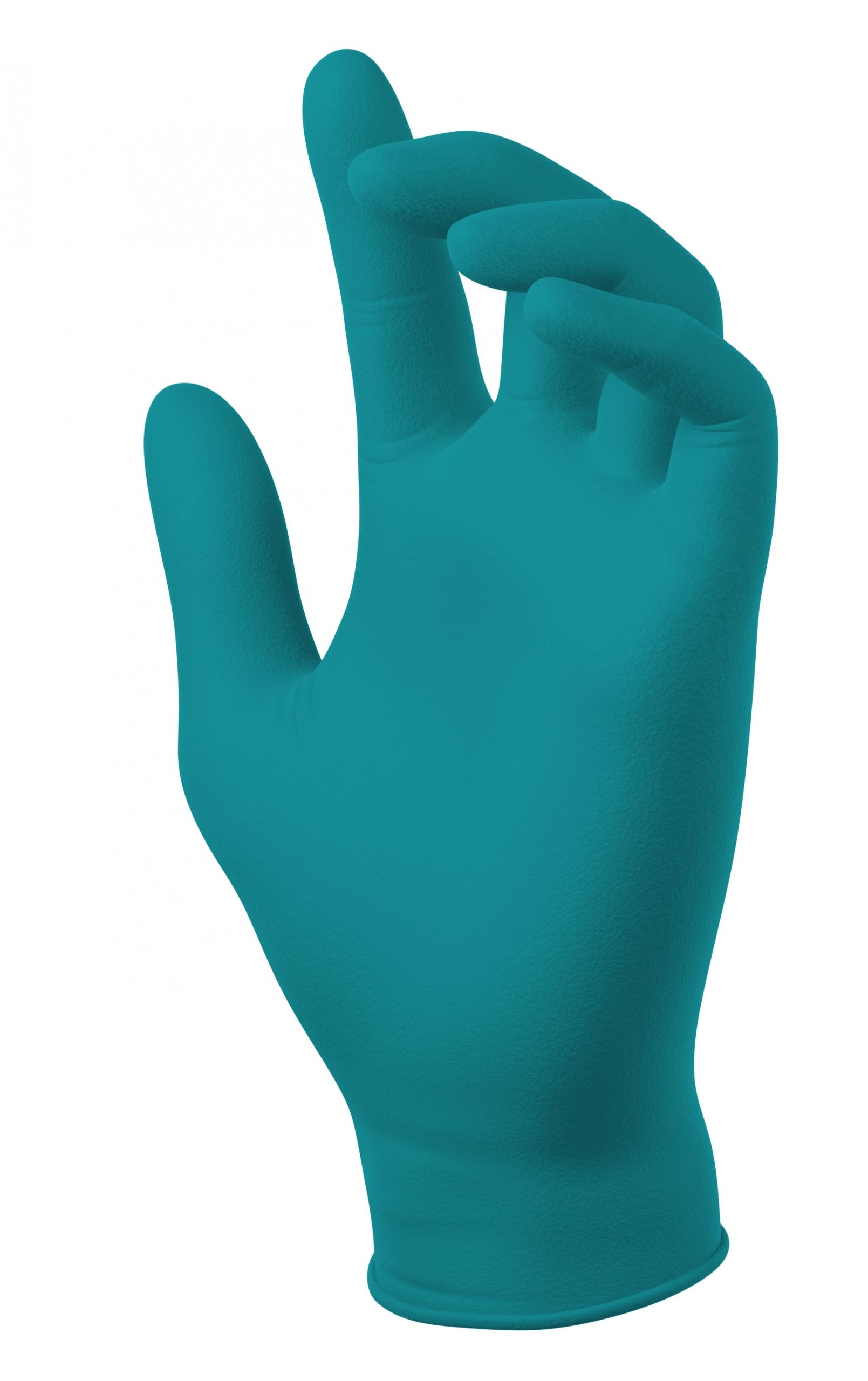 N20036- PowerForm® Teal Nitrile Gloves Image